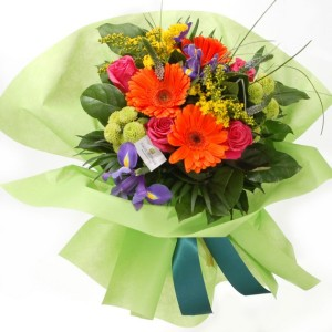 Colourful garden bouquet