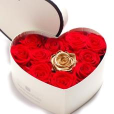 Forever Roses Heart Box