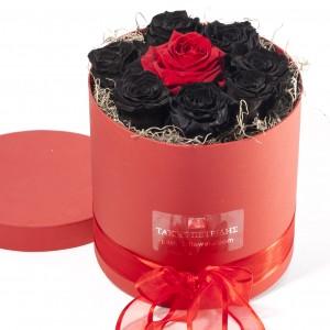 Black & Red Forever Roses