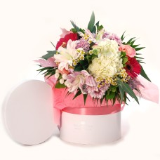 Bouquet in a white box