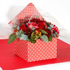 Bouquet in a red point box