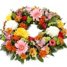 Spring flowers wreath