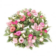 Spring flowers wreath