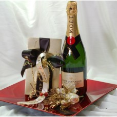 Moet & Chandon champagne and Leonidas pralines