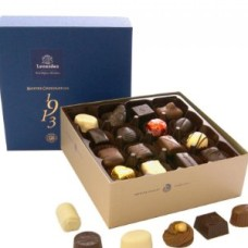 Square Leonidas box filled with a variety of Leonidas pralines