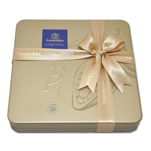 Leonidas box with a variety of pralines