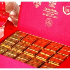 Red box filled with 'Gianduja' Leonidas