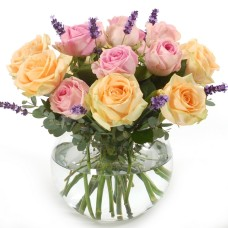 Roses in pastel colours