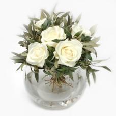 White Roses & Olivetree foliage