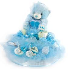 Boys, girls and teddies XL Blue