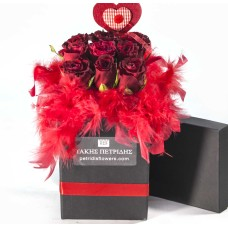 Roses bouquet in a box